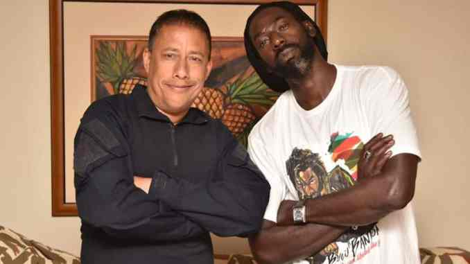 Gary Griffith and Buju Banton