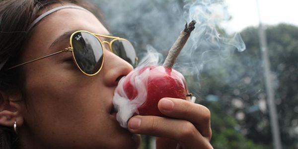 Smoking weed on 420