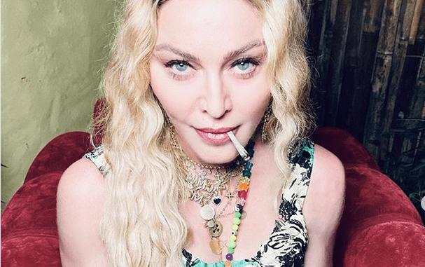 Madonna smoking weed in Jamaica