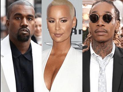 Kanye West, Amber Rose and Wiz Khalifa