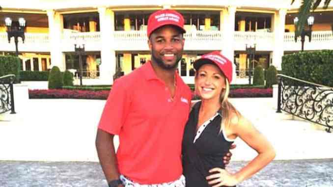 Golden Tate and wife, Elise Tate