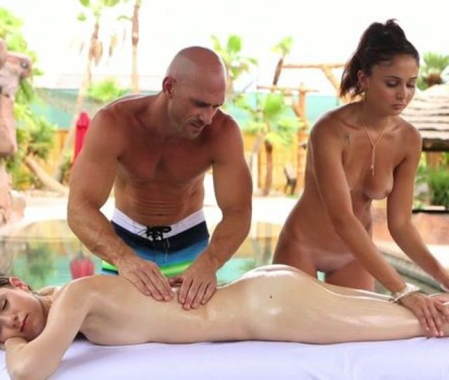 Poolside Threesome With Tight Body Bikini Babes By Porn Pros