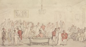 Elegant Company Dancing (undated). Thomas Rowlandson (1756-1827, British). Yale Center for British Art, Paul Mellon Collection