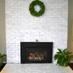 Fireplace Whitewash and White trim