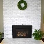 Fireplace Whitewash and White trim
