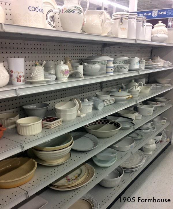 Thrift store glassware can be a great place to find home decor