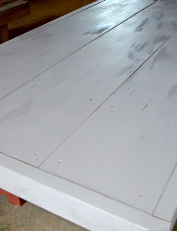 Gray paint to be used as base for table top design