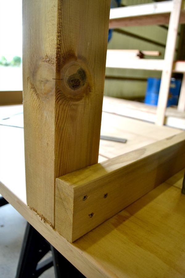 Support and table leg for outdoor table