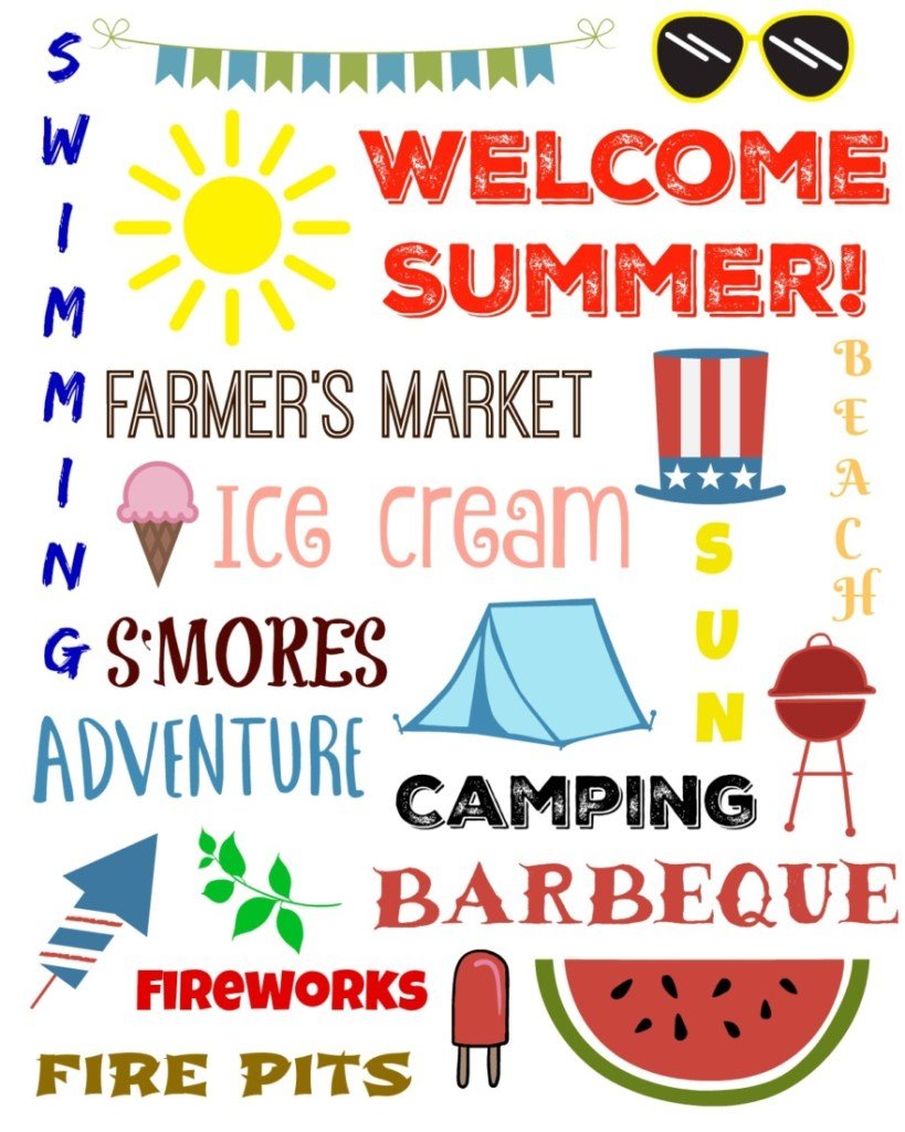 Free printable to welcome summer