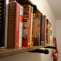 DIY pipe shelves