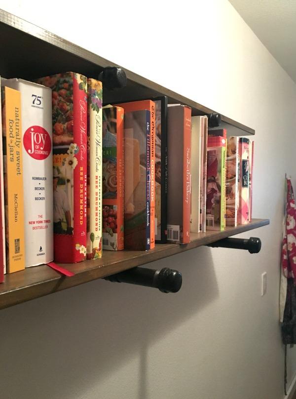 DIY Pipe shelving in a walk-in pantry
