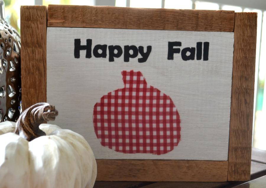 Happy Fall DIY Wood sign