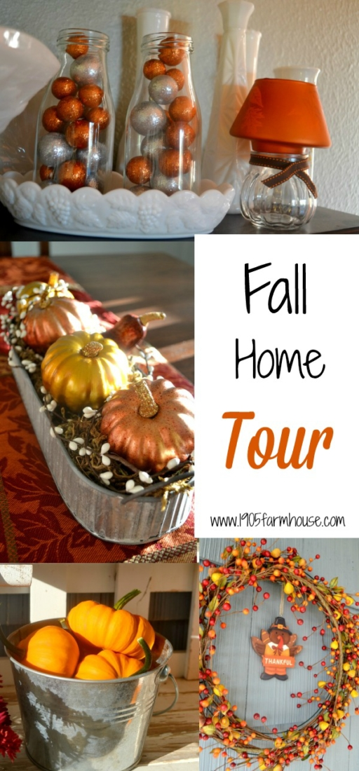 Take a Fall Home Tour of our 1905 Farmhouse decorated for the season