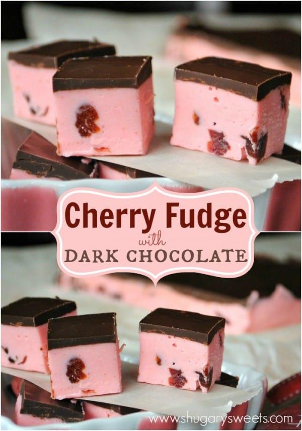 Cherry Fudge Recipe by Shugary Sweets