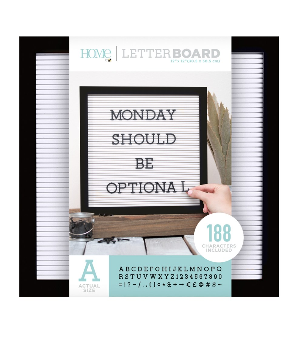 Letterboard from Joann Fabric & Craft