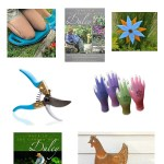 A collage image of gift ideas for gardeners