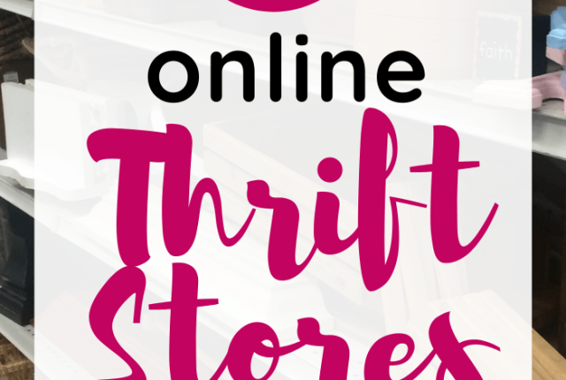 A pin image with text overlay that says 5 online thrift stores for home decor