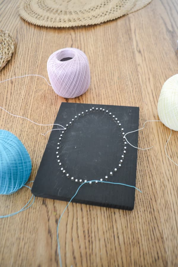 egg string art DIY