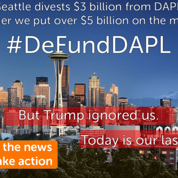 We moved $5 billion to DeFundDAPL, but Trump can't hear you
