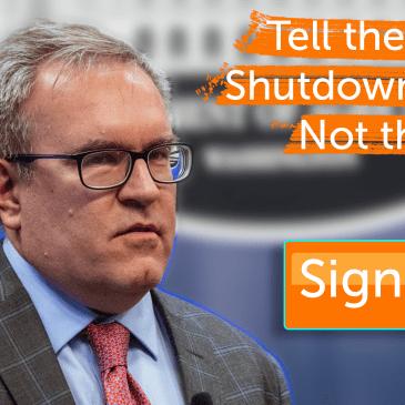 Shutdown Wheeler not the EPA