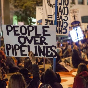 People over Pipelines