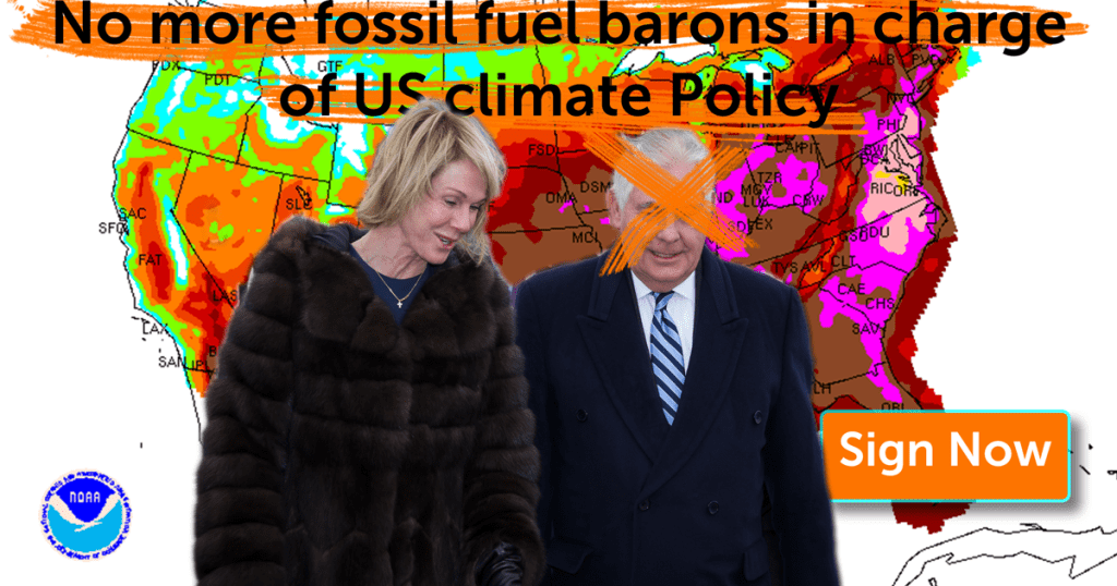 No More Climate deniers in charge of US climate policy