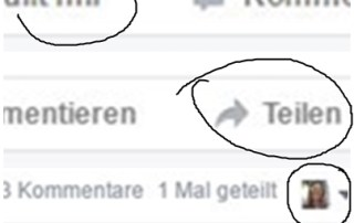 Facebook Interaktionen