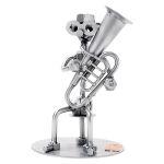 Zu Weihnachten: Schraubenmännchen Tuba-Spieler für Freunde der Volksmusik ein prima Geschenk