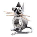 Zu Weihnachten: Schraubenfigur Katze ein prima Geschenk