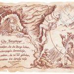 Zu Weihnachten: Sportbild Bergsteiger auf Antikpapier im A4-Format ein prima Geschenk