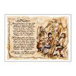 Zu Weihnachten: Zunftbild Musiker auf Antikpapier im A4-Format ein prima Geschenk