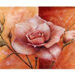 Zu Weihnachten: Fußmatte Rose in apricot ein prima Geschenk