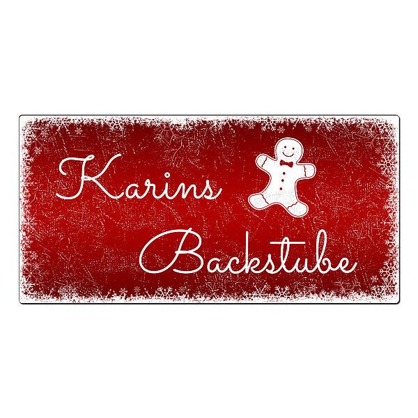 Weihnachtsdeko Schneegestöber - Schild mit Wunschtext - 300 x 150 mm rot