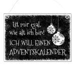 Zu Weihnachten: Weihnachtsgeschenk Blechschild A4 Schneegestöber mit Wunschtext im Format A4 schwarz ein prima Geschenk