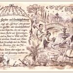 Zu Weihnachten: Zunftbild Garten- und Landschaftsbauer auf Antikpapier im A4-Format ein prima Geschenk