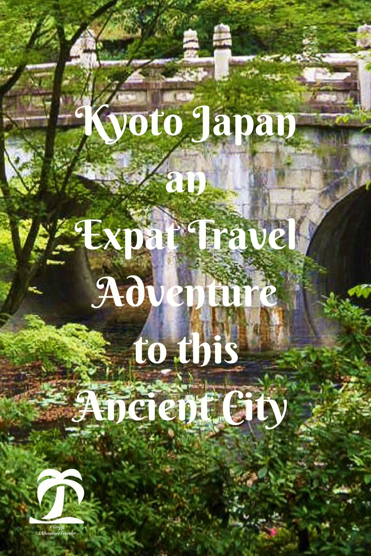 Kyoto Japan an Expat Travel Adventure - 1AdventureTraveler | I can't seem to get enough of these ancient temples, colorful shrines, and lush green gardens. Visit the land of the rising sun and have a wonderful experience.