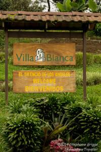 Villa Blanca sign