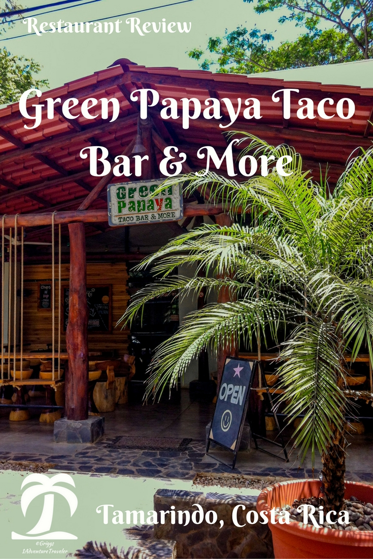 Green Papaya Tacos & More - 1AdventureTraveler | In my search for a healthy Restaurant plus the help of TripAdvisor I found this hidden gem. Feel in love with the healthy taco's, chips, salsa and so much more.| Tamarindo, Costa Rica | Tamarindo | Costa Rica | Green Papaya | Restaurant Review | Travel | Travel Photography|