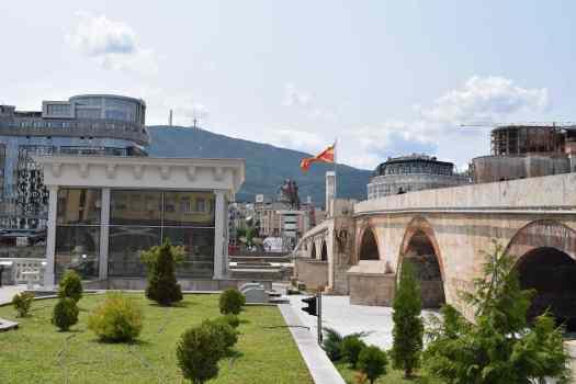 Pont Romain - Statue d'Alexandre Le Grand - Mont Vodno