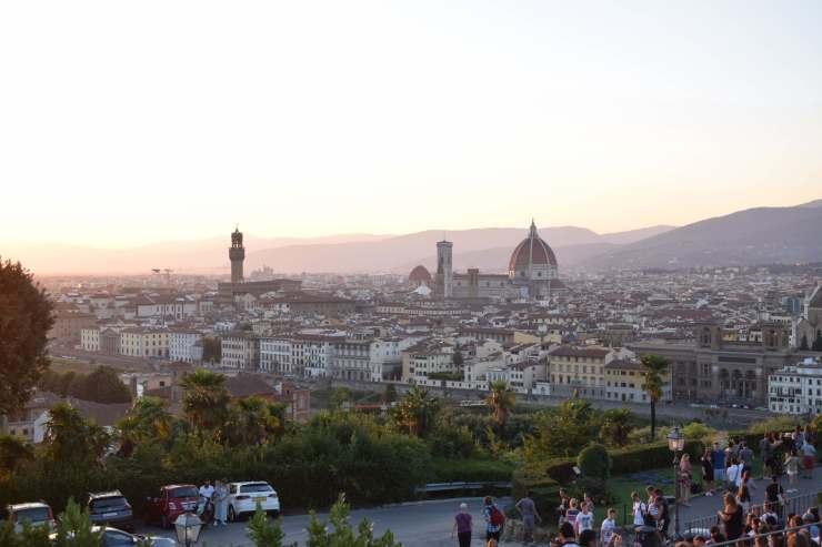 La piazzale Michelangelo