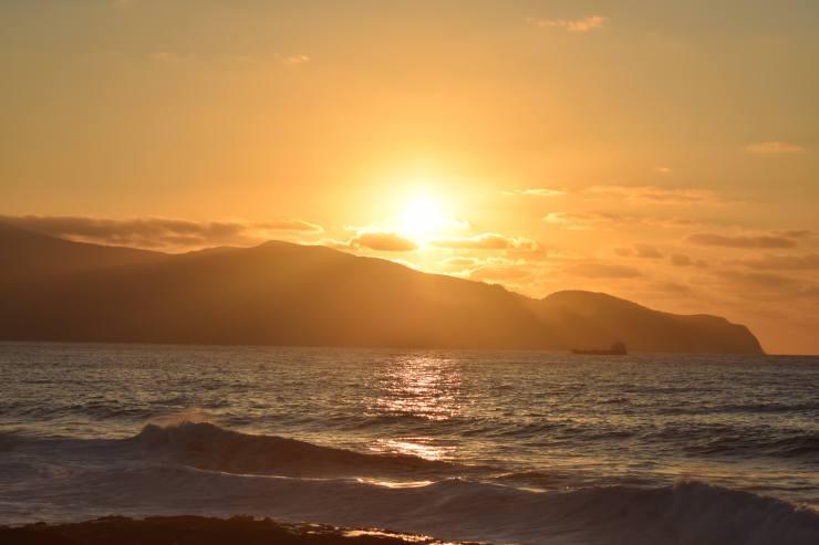 Coucher du soleil à Madalena