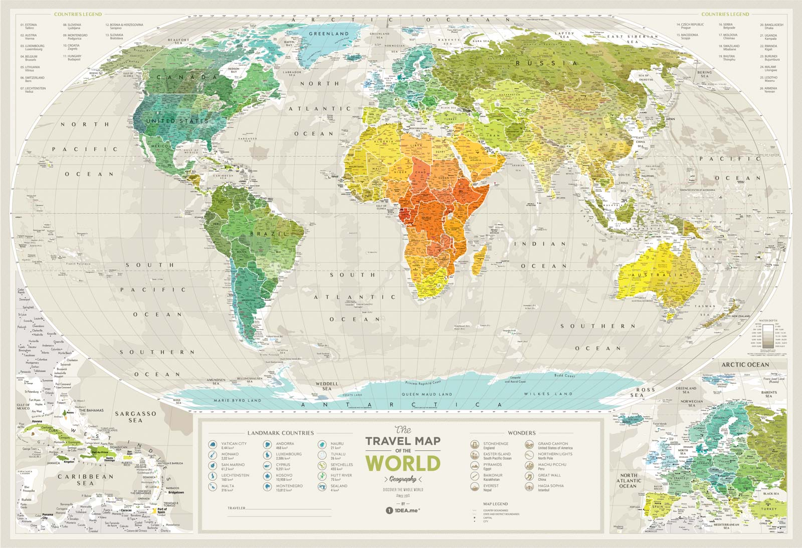 Travel Map Geography World Buy World Geography Map In
