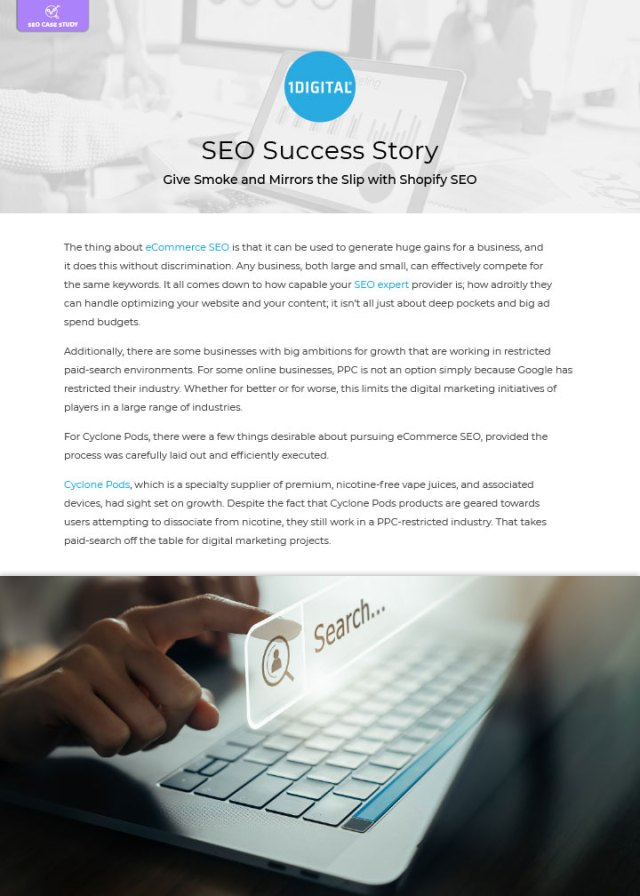 Give Smoke and Mirrors the Slip with Shopify SEO