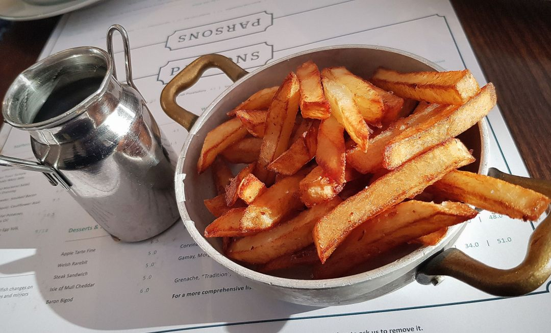 If you're looking for a London fish restaurant, look no further than these chips at Parsons.