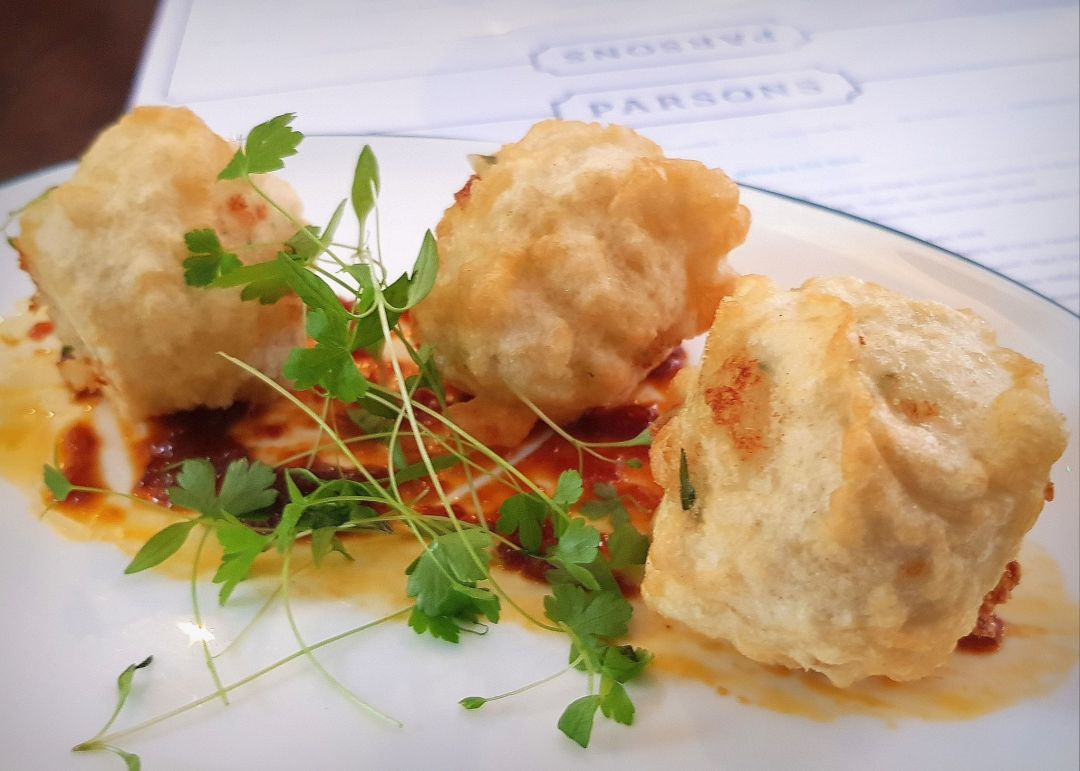 If you're looking for a London fish restaurant, look no further than these salt cod fritters at Parsons.