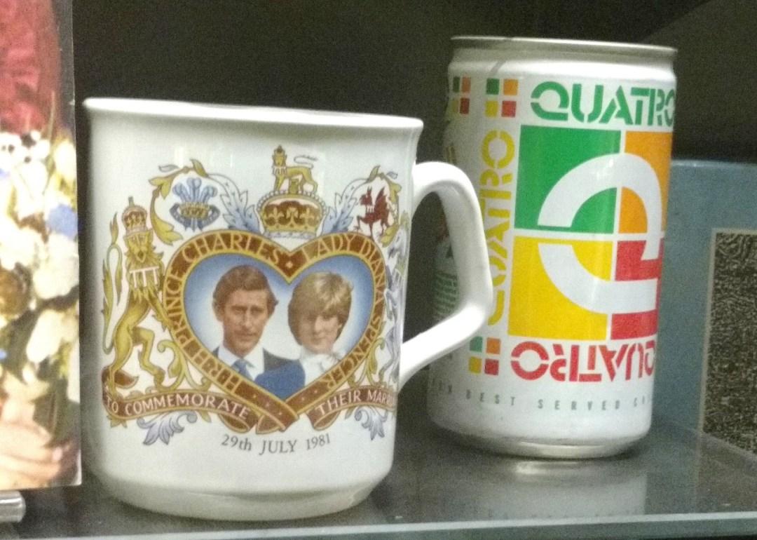 Mug commemorating the weddding of Prince Charles and Lady Diana