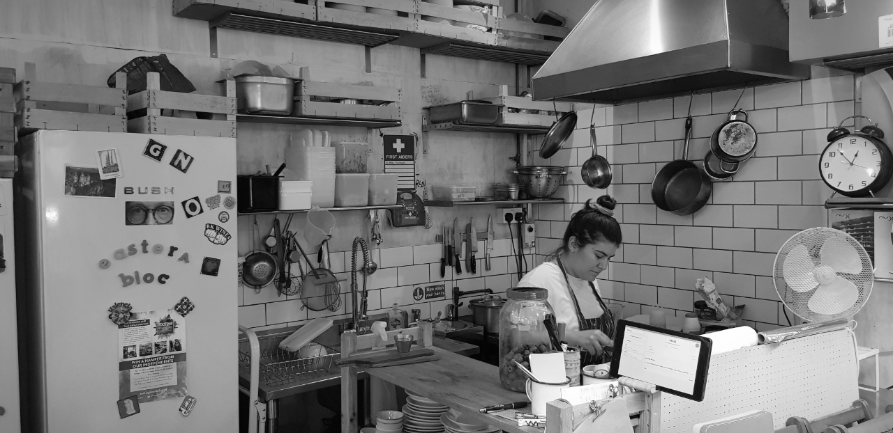 Eastern Bloc cooking in the kitchen of Unwined in Tooting market