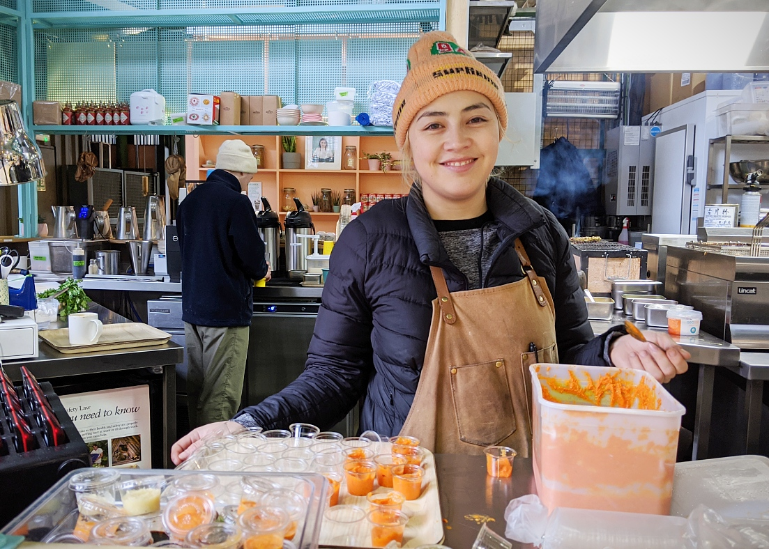 Elizabeth Haigh, founder and chef at Mei Mei in Borough Market, London