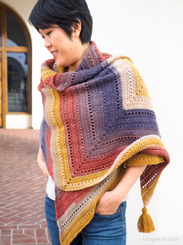 Add a shot of color to your wardrobe with The Adirondack Wrap