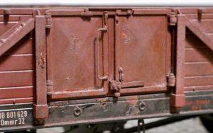 Tür eines Güterwagen